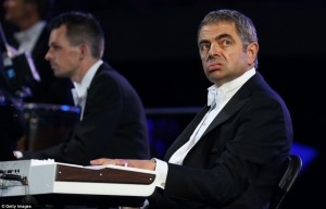 Mr. Bean on the piano