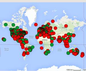 Map of where participants in the MOOC are based