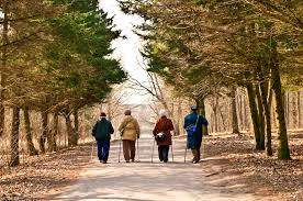 walking in group