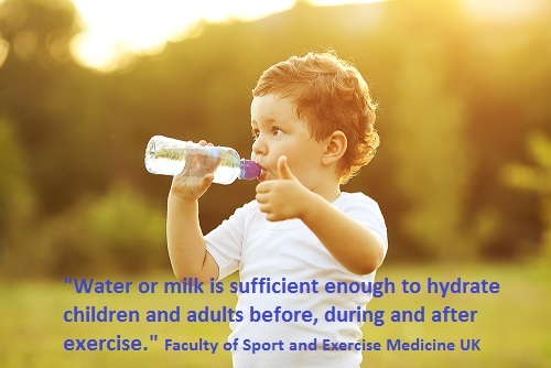 Water or milk is sufficient quote