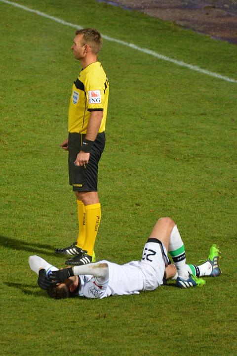 ref standing football
