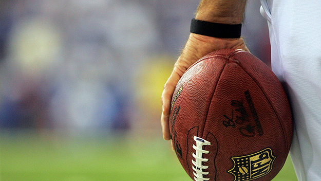 INDIANAPOLIS - JANUARY 21: A referee holds a football during the AFC Championship Game between the Indianapolis Colts and the New England Patriots on January 21, 2007 at the RCA Dome in Indianapolis, Indiana. (Photo by Andy Lyons/Getty Images)