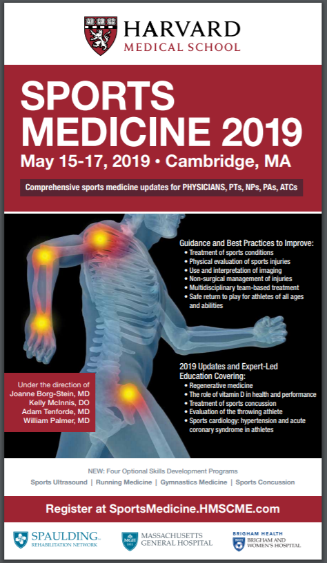 Sports Medicine 2019 -- Harvard Medical School CME course presents a