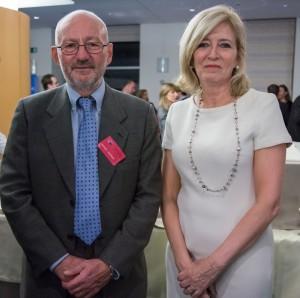 Tom Jefferson with Emily O'Reilly