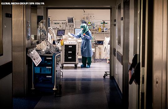 coronavirus intensive care corridor.'