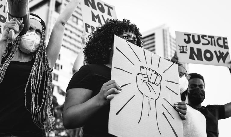 A Black Lives Matter protest