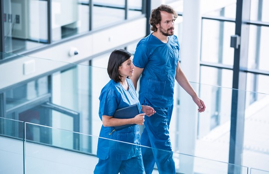 Doctors in a modern hospital