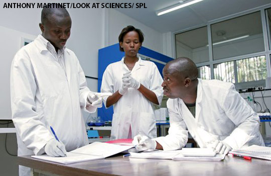 Researchers looking into malaria