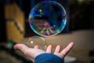 Hand and bubble