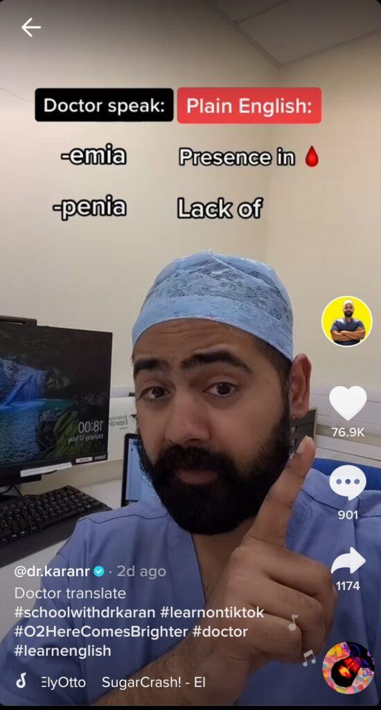 Dr Karan Rajan - doctor speak