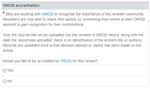 Reviewer option screen