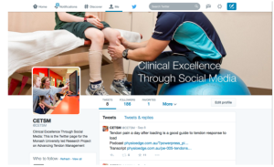 Screen shot - Clinical Evidence through Social Media - FB banner
