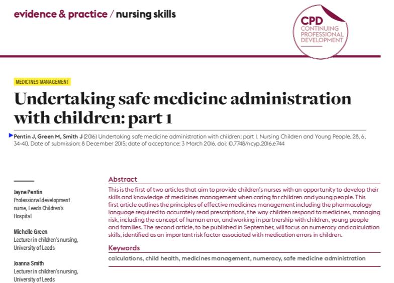 Safe medicine administration | Evidence-Based Nursing blog