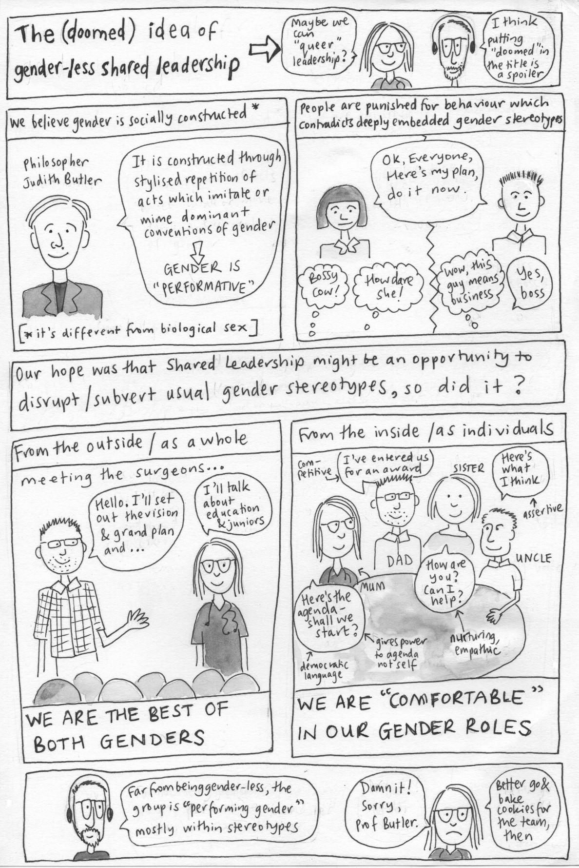 Exploring Gendered Leadership Stereotypes Comic