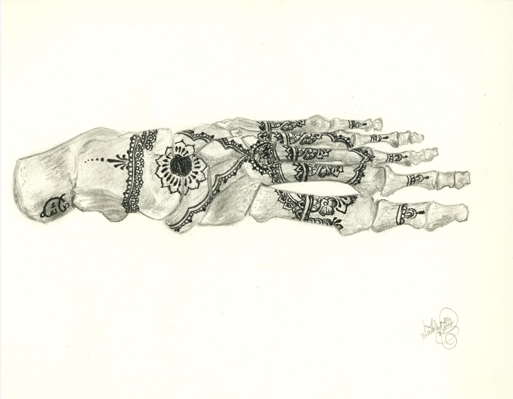 Saima Usmani, Skeleton foot