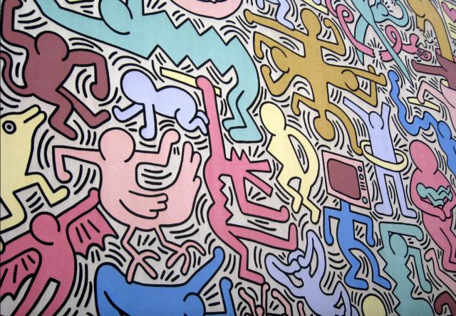Keith Haring mural (abstract art)