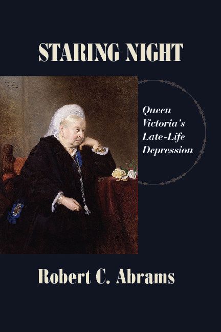 """Cover of the book """"Staring Night"""" (shows a portrait of an elderly Queen Victoria)"""