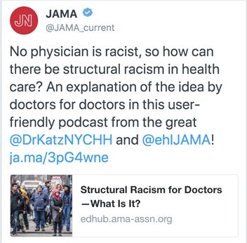 JAMA's now deleted Tweet