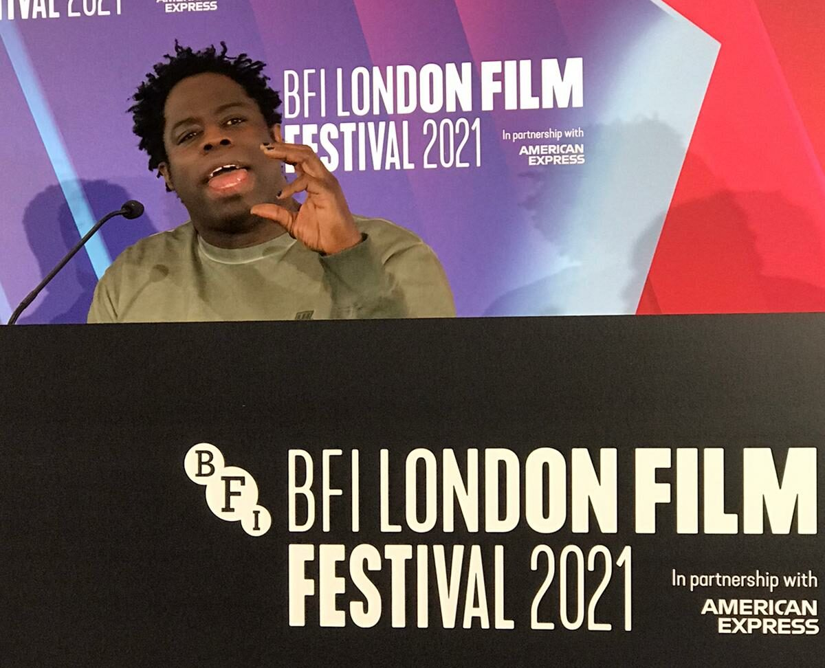 Jeymes Samuel sharing his love for Westerns at the press conference for his directorial debut.